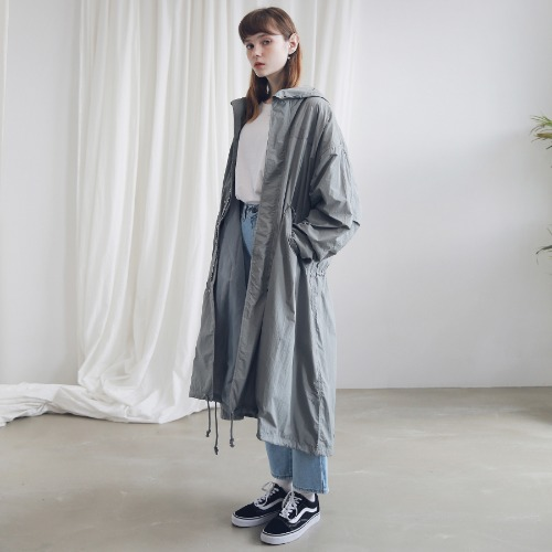 [ARDOROBE] M-51 FISHTAIL LONG COAT ACT191001-GR