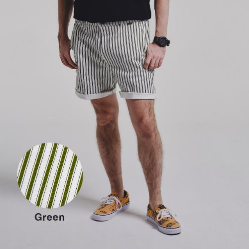 [STAGE NAME] STRIPE shorts_GREEN