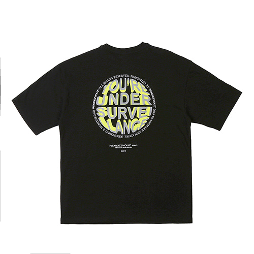 [RENDEZVOUZ] CIRCLE LOGO T-SHIRTS BLACK