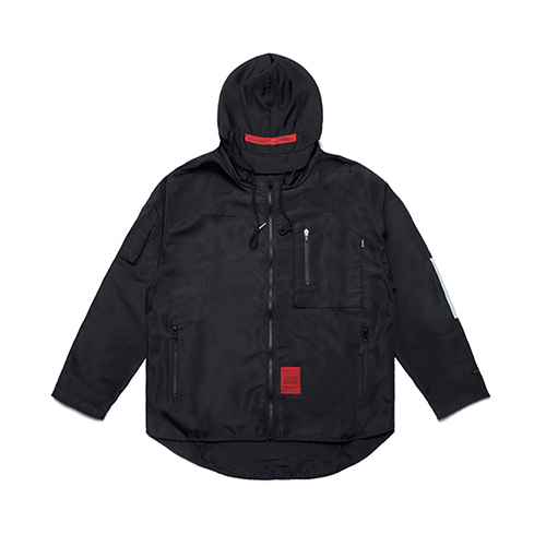 [STIGMA]CALIPH ASH TECH WINDBREAKER JACKET - BLACK