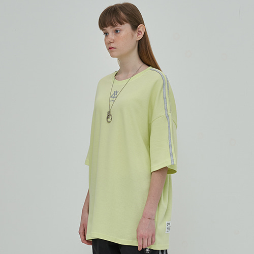 [OY] REFLECTIVE LINE T - LIME