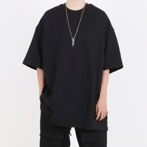 [Nar_Yoke] Super Overfit Jumbo T-Shirt -Black
