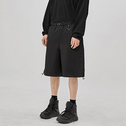 [FLARE UP] string wide half pants (FU-215_BK)