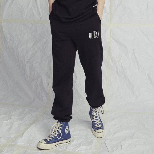 [Black Hoody] BLACK OCEAN SWEATPANTS BLACK
