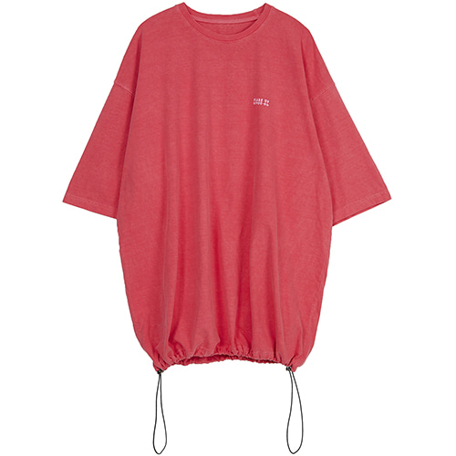 [FLARE UP] reversible pigment string T-shirt (FU-141_coral pink)