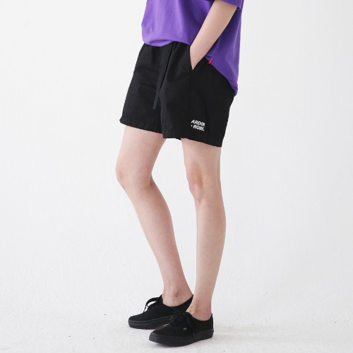 [ARDOROBE] WASHING BELT SHORTS ASP182001-BK