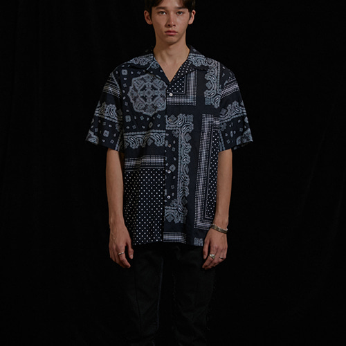 [viva studio] BANDANA SHIRTS IS [BLACK]