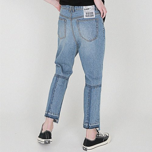[compàgno] 14OZ Denim damage crosse Jean