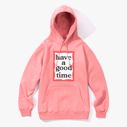 [Have a good time] FRAME PULLOVER HOODIE - INDIEA PINK