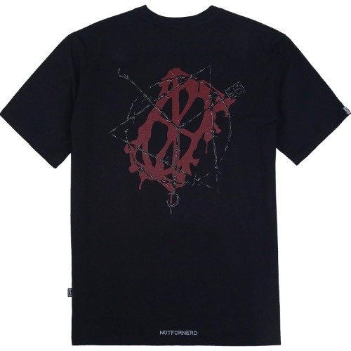 [NOT4NERD] Wire Entanglement T-Shirts- Black