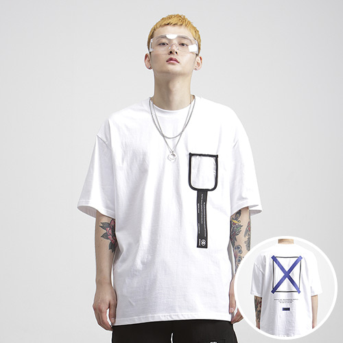 [NOWAVE] PVC POCKET TEE - White
