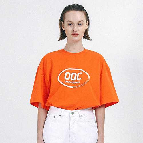 [outofcircle] round logo tee (orange)