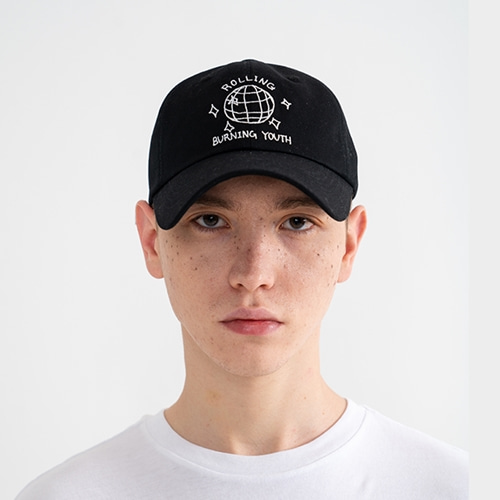 "[Rolling Studios]""MIRROR BALL"" Embroidered Ball Cap Black"