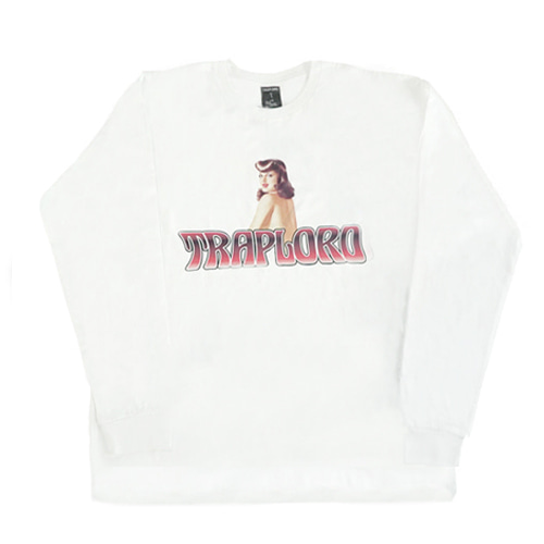 [TRAPLORD] Mens Knit L/S T-Shirt - Groovy (WHITE)