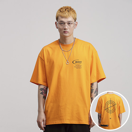[NOWAVE] SMALL LOGO TEE - Orange