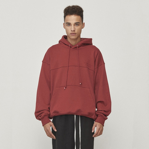 [D.PRIQUE] Oversized Hoodie Red (D18F102)