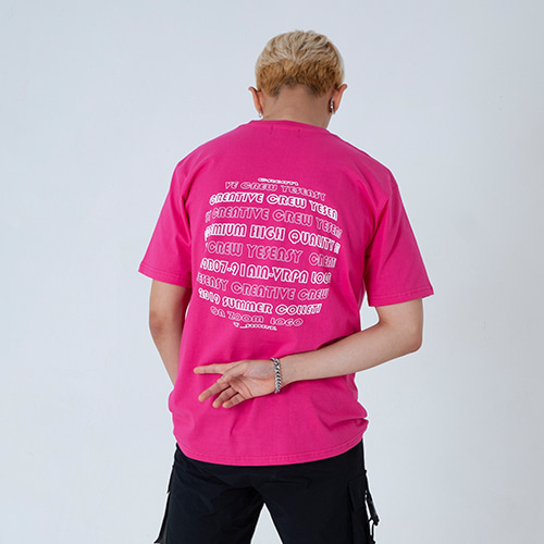 [YESEASY] ZOOMGRAPHIC T_SHIRT - PINK