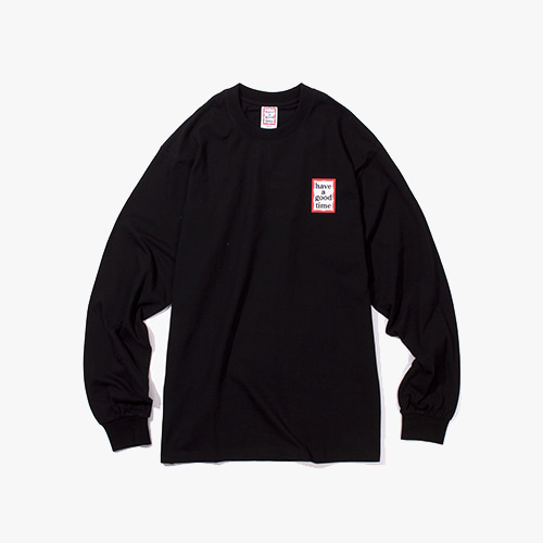 [해브어굿타임] MINI FRAME L/S TEE - BLACK