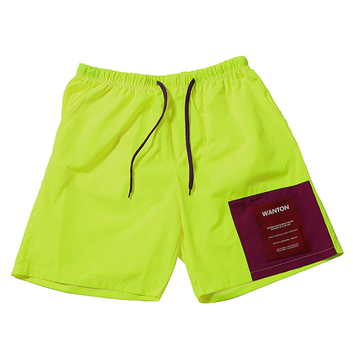 [WANTON] TWO TONE SHORTS LIME