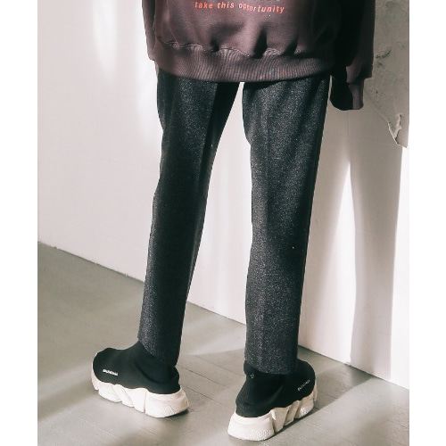 [언아웃핏]UNISEX WOOL SEMI WIDE SLACKS GREY