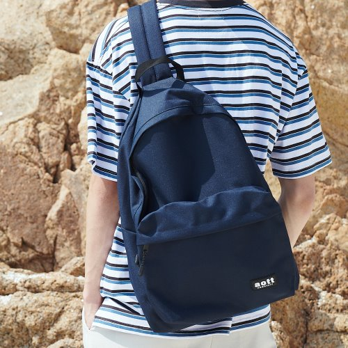 [ANOUTFIT] UNISEX CROSS OVER SLING BAG NAVY