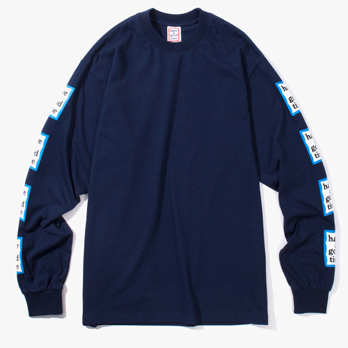 [Have a good time] BLUE ARM FRAME L/S TEE - NAVY
