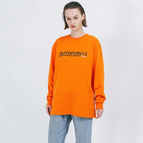 [outofcircle] line logo tee (orange)