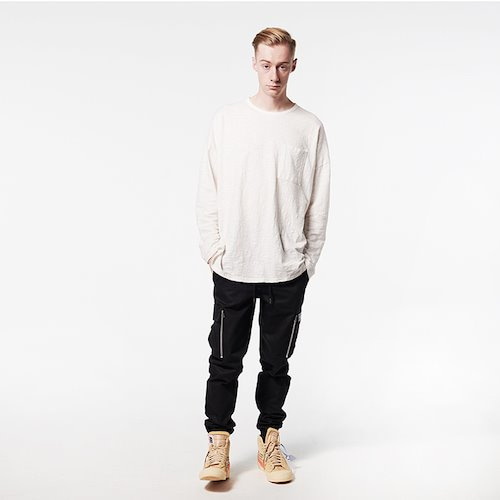 [DEADEND] POCKET LONG SLV- IVORY