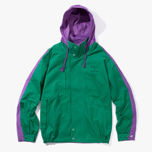 [Have a good time] 2 FACE JACKET - GREEN/PURPLE
