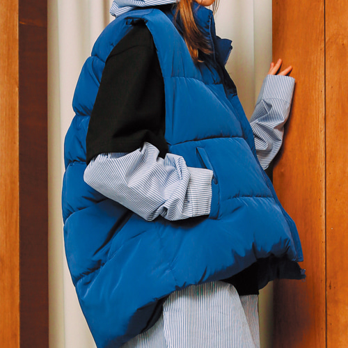 [언아웃핏]UNISEX 3M DUCK DOWN PADDING VEST BLUE