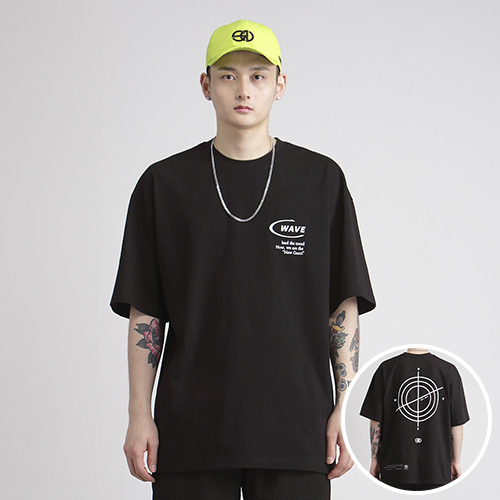 [NOWAVE] SMALL LOGO TEE - Black