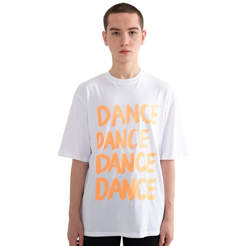 "[Rolling Studios]""DANCE"" Over fit T-Shirt White"