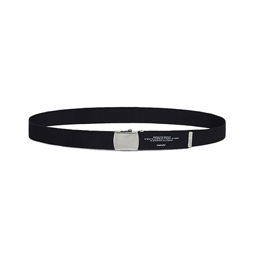 [viva studio] LETTERING BUCKLE BELT IS [BLACK]