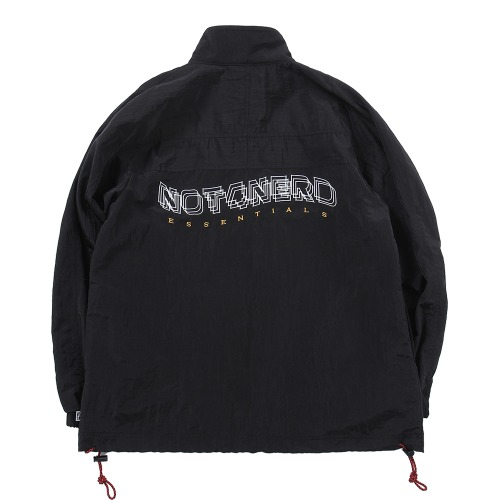 [낫포너드] 3Wave Logo Nylon Metal Anorak - Black