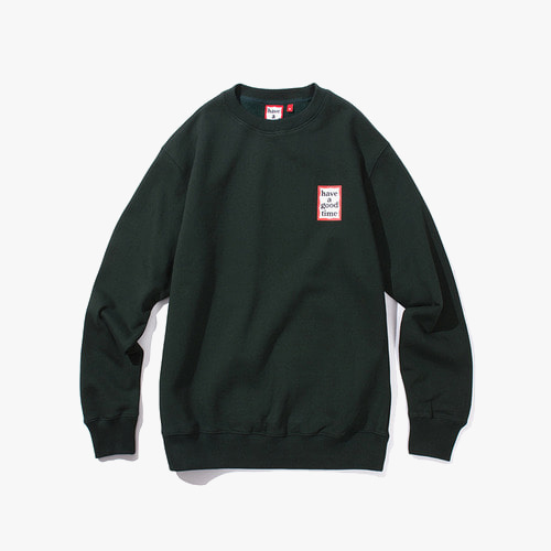 [Have a good time] MINI FRAME CREWNECK - GREEN