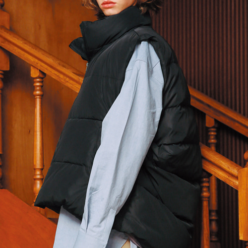 [언아웃핏]UNISEX 3M DUCK DOWN PADDING VEST BLACK