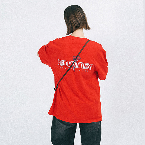 [outofcircle] fire tee (red)
