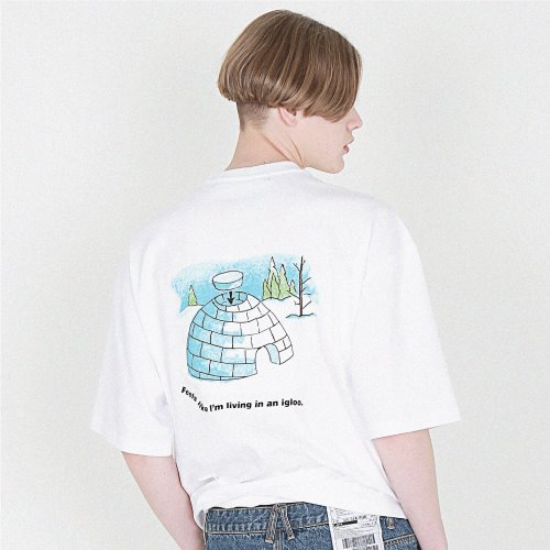 [compàgno] [16수] igloo LOGO back prining 화이트