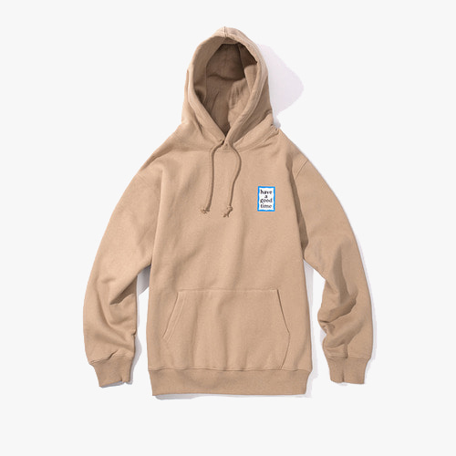 [Have a good time] MINI BLUE FRAME PULLOVER HOODIE - SAND