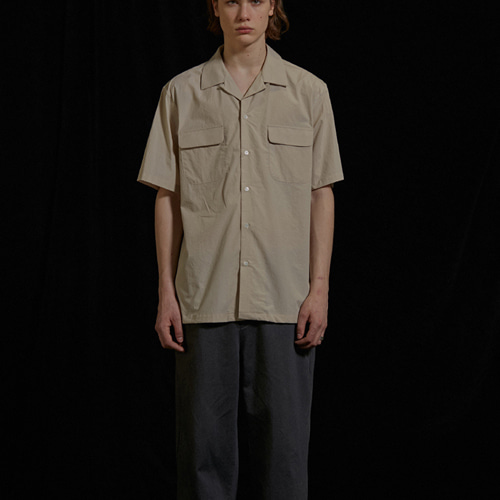 [viva studio] TWO POCKET SHIRTS IS [BEIGE]