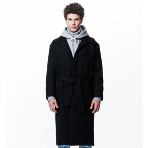 [OVERTHEONE][209] HEAVY WOOL OUT-POCKET COAT (BLACK)
