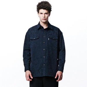 [OVERTHEONE][106] CAMO PATTERN POCKET SHIRTS (NAVY)