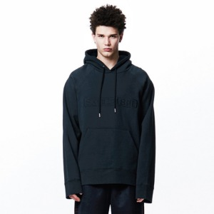 [OVERTHEONE][010] OVER THE ONE SIGNATURE BOXY HOODIE (black)