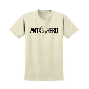 [ANTIHERO] FACE PUNCH S/S T-Shirt CRÈME w/ BLACK Print 51020344A