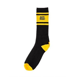 [Antihero] EAGLES UP Sock - BLACK/YELOW 57020027D00