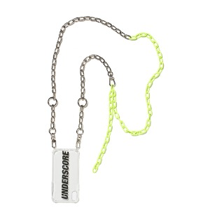 [UNDERSCORE] Neon Green Mixed Chain Case