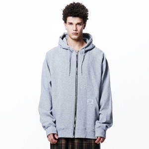 [OVERTHEONE][112]OVER FIT HEAVY ZIP HOODIE(GRAY)