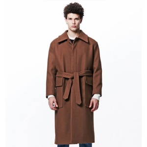 [OVERTHEONE][209] HEAVY WOOL OUT-POCKET COAT (CAMEL)