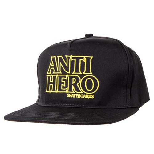 [ANTIHERO] BLACK HERO Snapback Hat BLACK/YELLOW 50020085B00