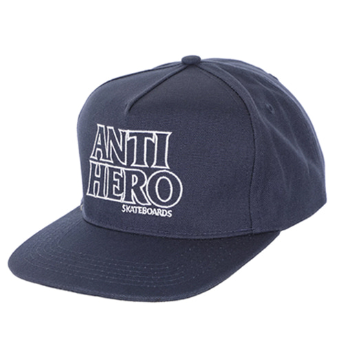 [ANTIHERO] BLACK HERO Snapback Hat NAVY/WHITE 50020085C00